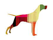 Colorful Art. Prints - Setter Pointer Print by Irina  March