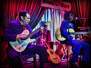 New York Jazz Art - Seu Jorge at the Blue Note NYC by Lee Dos Santos