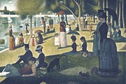 Pointillist Prints - Seurat, Georges 1859-1891. A Sunday Print by Everett
