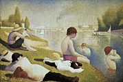 Pointillist Prints - Seurat, Georges 1859-1891. Bathers Print by Everett