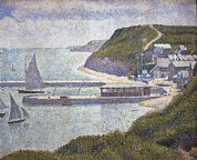 Port En Bessin Framed Prints - Seurat, Georges 1859-1891. Harbour Framed Print by Everett