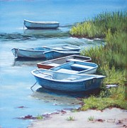 Chatham Painting Originals - Seven Boats by Candice Ronesi