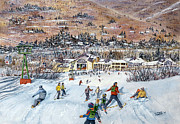 Ski Paintings - Seven Brothers by C Marc Morelle