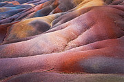 Mauritius Prints - Seven Colored Earth in Chamarel 1. Series Earth Bodyscapes. Mauritius Print by Jenny Rainbow