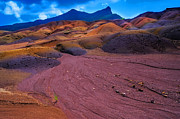 Travel Photography Prints - Seven Colored Earth in Chamarel II. Mauritius Print by Jenny Rainbow