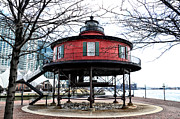 Md Digital Art - Seven Foot Knoll Lighthouse - Baltimore by Bill Cannon