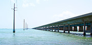 World Wide Sportsman Framed Prints - Seven Mile Bridge Framed Print by Carey Chen