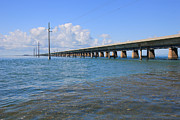 Florida Bridge Photo Posters - Seven Mile Bridge Marathon Poster by Sophie Vigneault