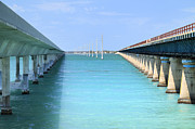 Άγιος Νικόλαος Metal Prints - Seven Mile Bridge Metal Print by Rudy Umans