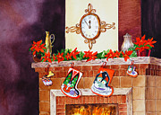 Art Studio Paintings - Seven Minutes Before Christmas by Irina Sztukowski