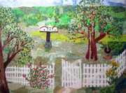 Garden Tapestries - Textiles - Seven Sisters by the Gate by Charlene White