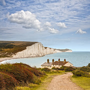 Sisters Photo Framed Prints - Seven Sisters Cuckmere Haven South Downs Sussex Framed Print by Colin and Linda McKie