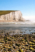 Photo-realism Digital Art - Seven Sisters England by Olaf Protze