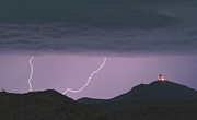 Carefree Arizona Art - Seven Springs Lightning Strikes by James Bo Insogna