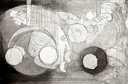 Printmaking Originals - Seventh Gear by Laurence Elias