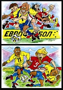 League Drawings - Seventh page comic about Eurofootball by Vitaliy Shcherbak