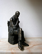 Man Sculpture Prints - Severe problem Print by Nikola Litchkov