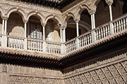 Patio Prints - Seville Alcazar Palace Architecture Print by Artur Bogacki