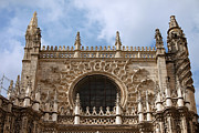 Carving Posters - Seville Cathedral Gothic Architecture Poster by Artur Bogacki