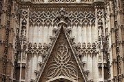 Stone Carvings Prints - Seville Cathedral Ornamentation Print by Artur Bogacki