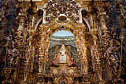 Interior Scene Photo Prints - Seville Cathedral Reredos Print by Artur Bogacki