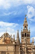 Rooftop Framed Prints - Seville Cathedral Tower and Dome Framed Print by Artur Bogacki