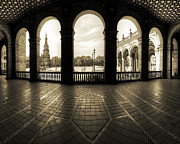 Flooring Digital Art Framed Prints - Seville Framed Print by Edmund Nagele