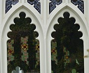 The Church Mixed Media Originals - Sewanee Chapel windows by Ron Hayes