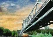 Sewickley . Prints - Sewickley Bridge Print by Chris Reed