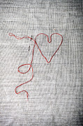 Sewing A Heart Print by Joana Kruse