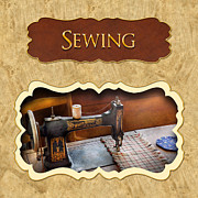 Tailor Posters - Sewing button Poster by Mike Savad