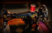 Textiles Posters - Sewing Machine - Singer Sewing Machine Poster by Paul Ward