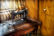 Mending Metal Prints - Sewing Machine  - The Sewing Machine  Metal Print by Mike Savad