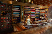 Textiles Photos - Sewing - Minding the mending store by Mike Savad