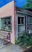 Sidewalk Drawings - Sewing Shop by David Neace