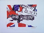 Johnny Rotten Painting Originals - Sex Pistols - Anarchy in the UK by Richard John Holden