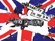 Sex Digital Art Posters - Sex Pistols No.02 Poster by Caio Caldas