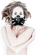 Gas Mask Posters - Sexy Gas Mask Poster by Jt PhotoDesign