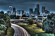 Sexy Skyline Of Charlotte  Print by Robert Loe