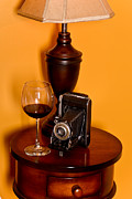 Vintage Red Wine Prints - Sexy Table Top Print by Jt PhotoDesign