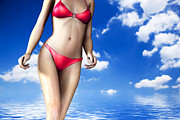 Hot Girl Posters - Sexy woman body in summer Poster by Michal Bednarek