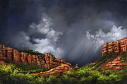 Weather Acrylic Prints - Sedona by Susi Galloway