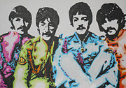 Sgt Pepper Beatles Paintings - Sgt. Pepper by Moira Ferguson