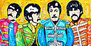 George Harrison Paintings - Sgt. Peppers Lonely Hearts Club by Tara Richelle