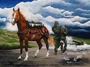 Korean War Paintings - Sgt. Reckless by Pat DeLong