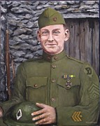World War One Paintings - Sgt Sam Avery by Jack Skinner
