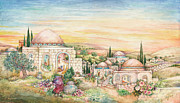 Jerusalem Paintings - Shabbat Landscape by Michoel Muchnik