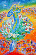 Jerusalem Painting Metal Prints - Shabbat Shalom Metal Print by Leon Zernitsky