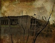 Shack Digital Art Prints - Shack Print by Gothicolors With Crows