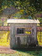 Wine Country Watercolor Paintings - Shack Hwy 129 by Anthony George